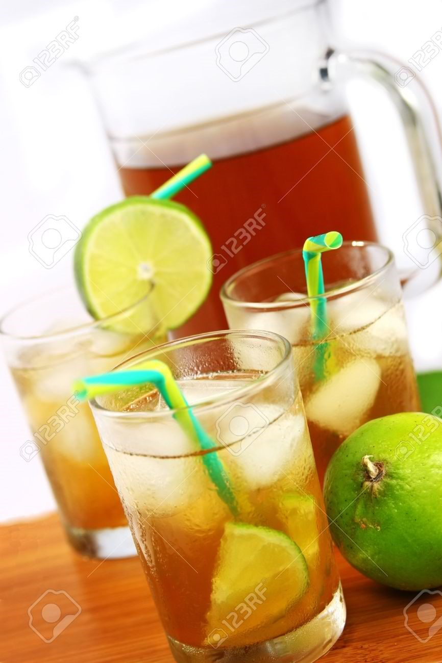 One Pitcher Iced Tea with Calamansi